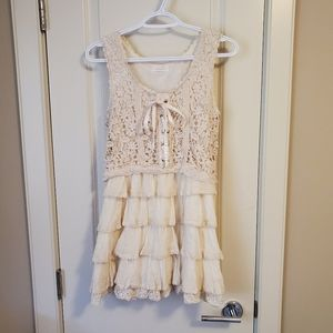 Ivory Dress with Ribbon